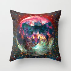 Sir Parker, Cat in The Moon  Throw Pillow