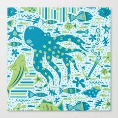 SEA PATTERNS Canvas Print