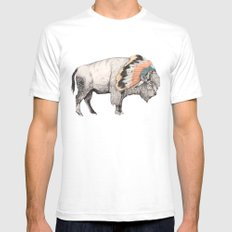 White Bison Mens Fitted Tee White SMALL