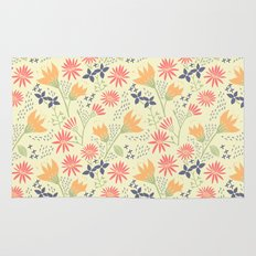 Autumn Floral Pattern Rug