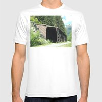 Snow Shed Mens Fitted Tee White SMALL