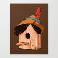 Woodpecker´s House Canvas Print