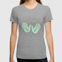 Hi Fives Womens Fitted Tee Tri-Grey SMALL