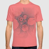 Turquoise Fractal Mens Fitted Tee Pomegranate SMALL