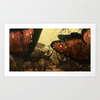 Diorama :: Rhinos Art Print