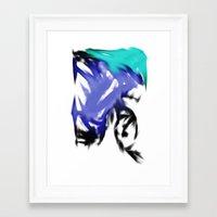 orgasmic girl  Framed Art Print