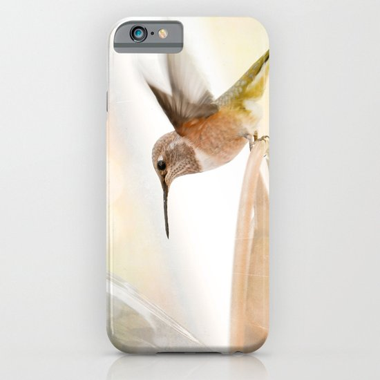 Hummingbird in flight iPhone & iPod Case