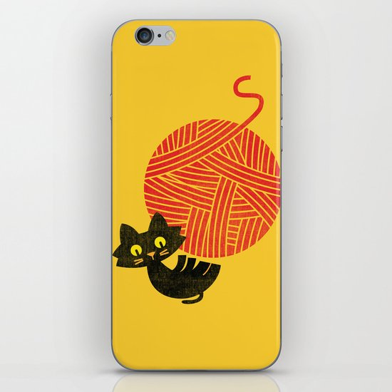 Fitz - Happiness (cat and yarn) iPhone & iPod Skin