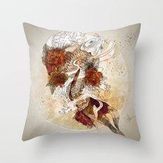 Gold Koi Throw Pillow