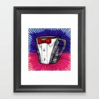 I drew you a Pee-wee Herman Suit Mug of Coffee Framed Art Print
