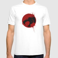 thundercat White Mens Fitted Tee SMALL