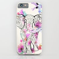 iPhone & iPod Case featuring Playful Elephant by Crystal ★ Walen