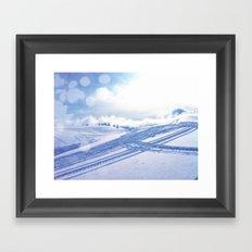 Fresh Tracks Framed Art Print