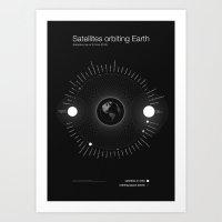 Satellites Orbiting Eart… Art Print