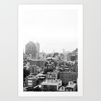 Lower East Side Skyline … Art Print