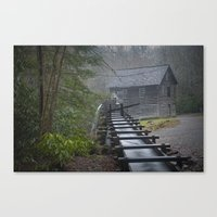 An Old Mill in the Smokey Mountains Canvas Print