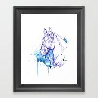 Blue Rodeo Framed Art Print