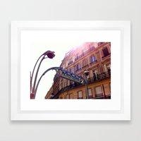 The Metro, Paris Framed Art Print