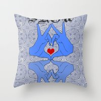 Show some love Throw Pillow