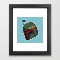 Fett Bucket Framed Art Print
