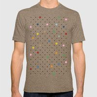 Pin Points Polka Dot Mens Fitted Tee Tri-Coffee SMALL
