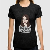 April Ludgate Is My Spir… Womens Fitted Tee Tri-Black SMALL