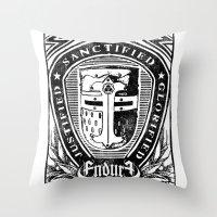 JUSTIFIED CRUSADER Throw Pillow