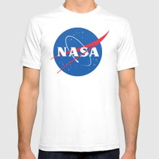 nasa Mens Fitted Tee White SMALL