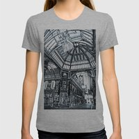 Leadenhall Market London Womens Fitted Tee Athletic Grey SMALL