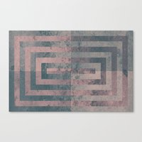 Aged cement texture abstraction Canvas Print