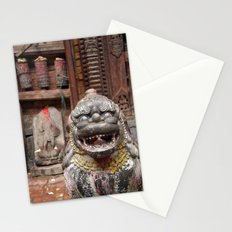 Fu with Prayer Wheels in Background Stationery Cards
