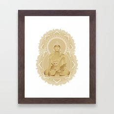 Gold buddha Framed Art Print