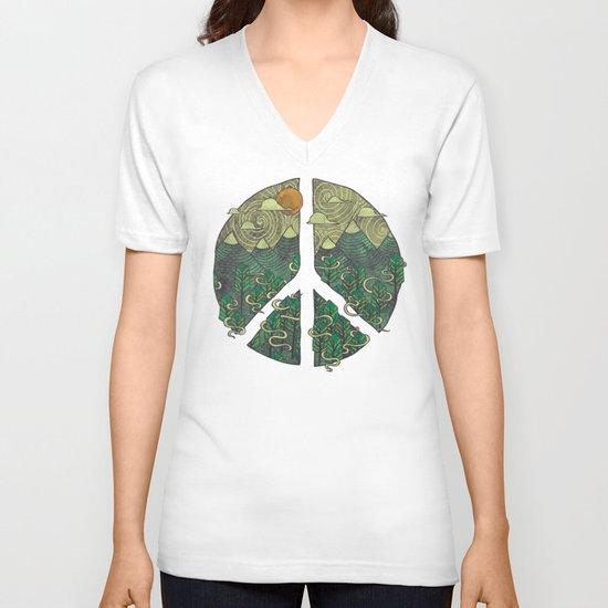 Peaceful Landscape V-neck T-shirt