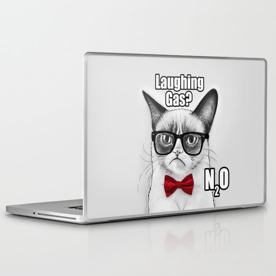 Grumpy Chemistry Cat Laptop & iPad Skin