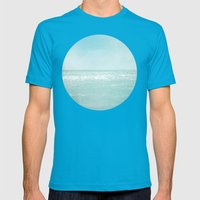 Majestic Sea Mens Fitted Tee Teal SMALL