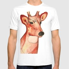 Master Deer White SMALL Mens Fitted Tee