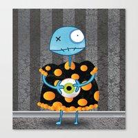 Little Lulu Unzicker with Her Favorite Pet Eye. Canvas Print