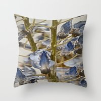 iced wisteria Throw Pillow