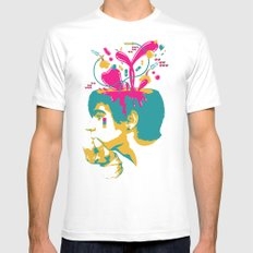 Liquid thoughts:Boy White SMALL Mens Fitted Tee