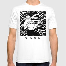 GRAD SMALL Mens Fitted Tee White