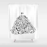 Pupper Pile Shower Curtain