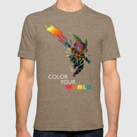 Color Your World Mens Fitted Tee Tri-Coffee SMALL