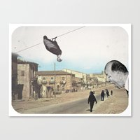 La procession Canvas Print