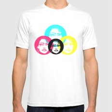 CMYK Punk White Mens Fitted Tee SMALL