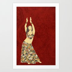 Belly dancer 3 Art Print