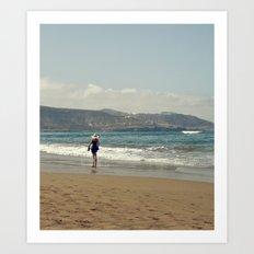 Me & Beach Art Print