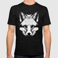 Geo - Fox  Mens Fitted Tee Tri-Black SMALL