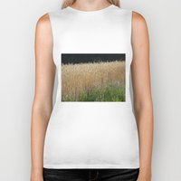 Field Of Summer Biker Tank