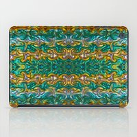 Molten gold with impurities iPad Case