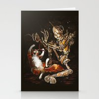 Robot And Cat In The Wil… Stationery Cards